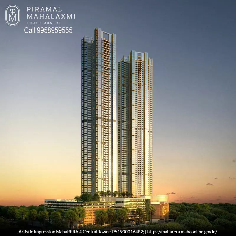 """Piramal Mahalaxmi"" - facing 225 acre of biggest green lung of the City ""Mahalaxmi racecourse"" & ""Arabian Sea""."
