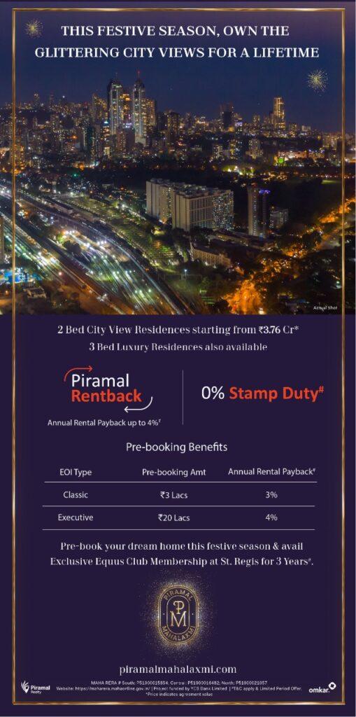 Zero Stamp Duty + Annual Rentback of upto 4%.